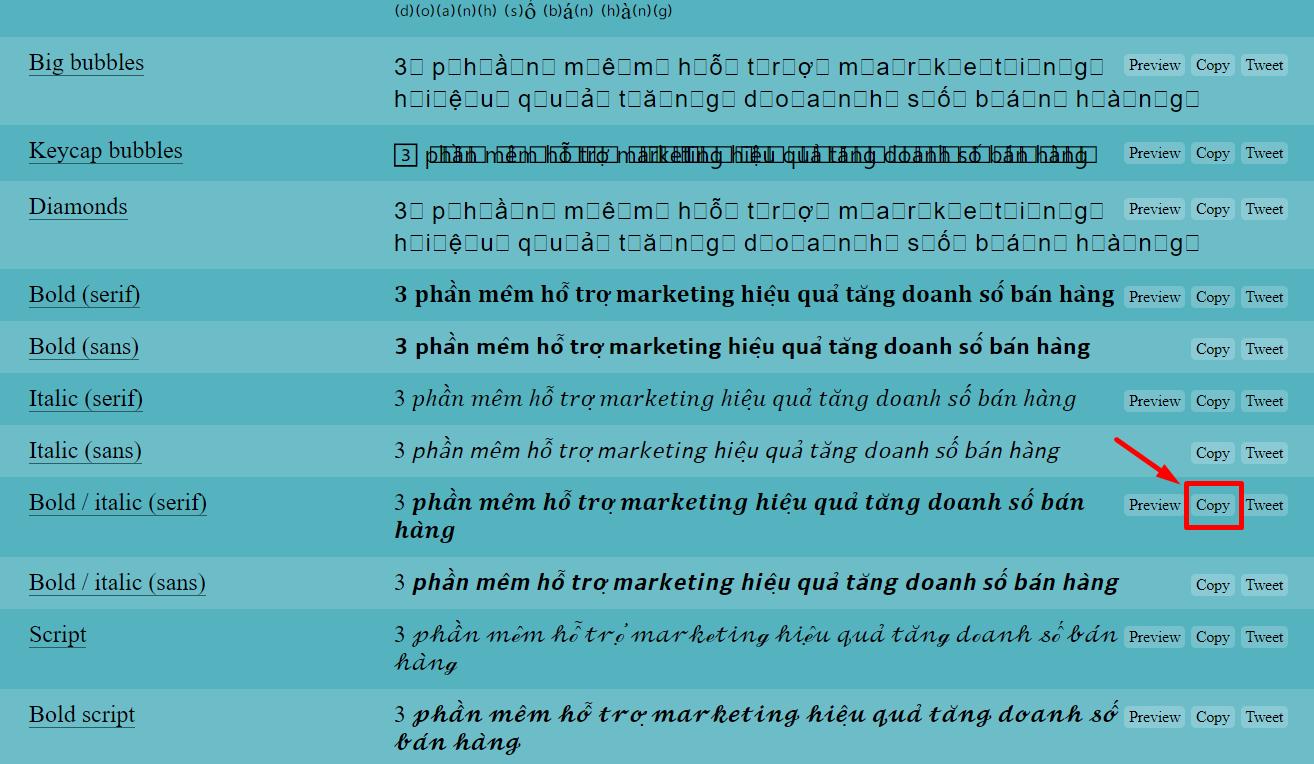 3 mẹo giúp bạn chèn chữ in nghiên trên bài đăng của Facebook